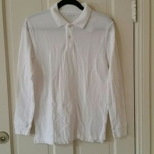 NWT. Youth white long-sleeved  polo. Size XL 14